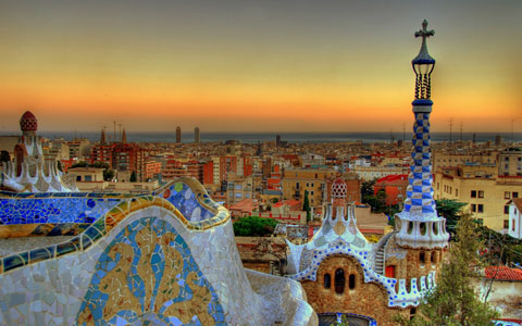 Parc Guell Barcelona, a city of great literary influence