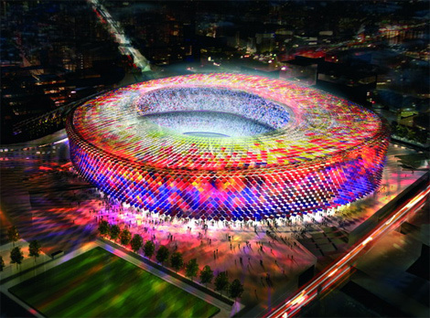 Barcelona Camp Nou - The Intended New Stadium
