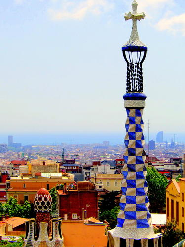 Barcelona Parc Guell view