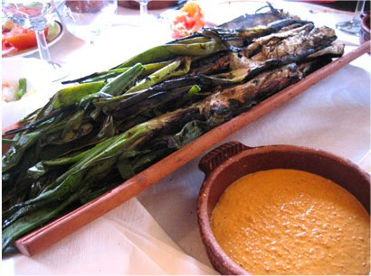 Calçots may Romesco Sauce