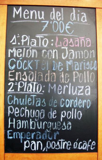 Menu del DIA, Barcelona