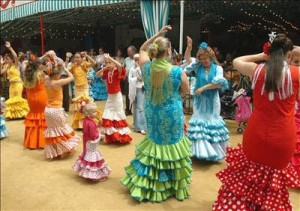 Feria de Abril: Traditional Flamenco Dancers