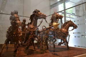 Chocolate Statues, Chocolate Museum in Barcelona