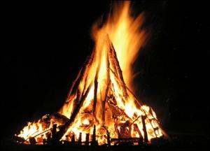 Sant Joan Festival Barcelona Bonfire