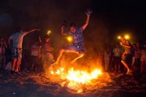 Sant Joan Festival, Barcelona, Fire Jumping