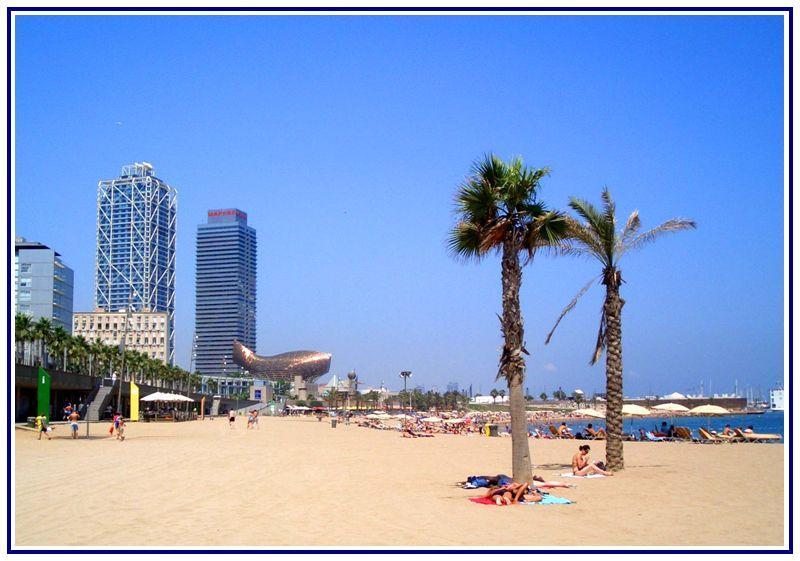 Барселона Пляжі