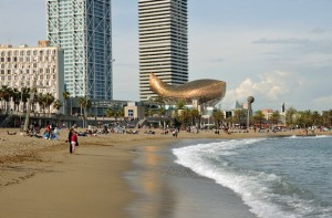 The Golden Fish, Barceloneta, Barcelona