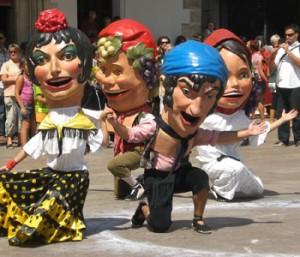 Capgrossos during La Mercè, Barcelona