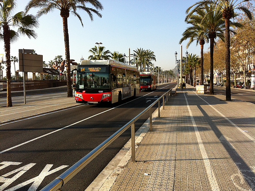 Barcelona Buses [Photo by andynash via Flickr]