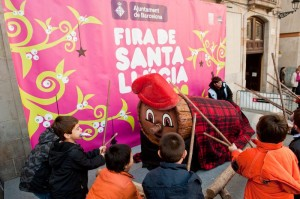 Kids at Barcelona Christmas Fair