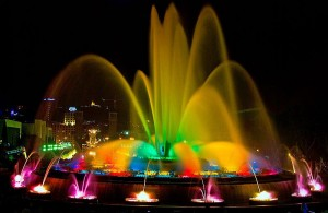 Montjuic Magic Fountains, Barcelona