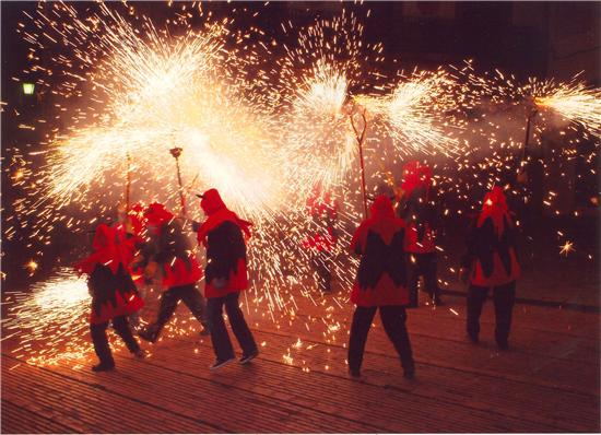 Traditional Fire Run, Barcelona