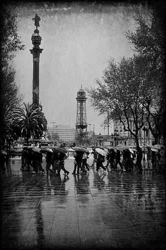 Rainy Days in Barcelona