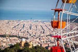 Tibidabo Ferris Wheel in Barcelona
