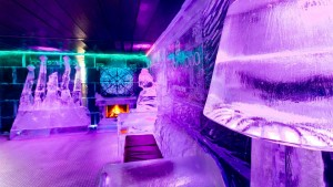 Inside icebarcelona ice bar