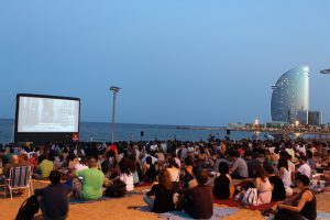 Barceloneta outdoor cinema